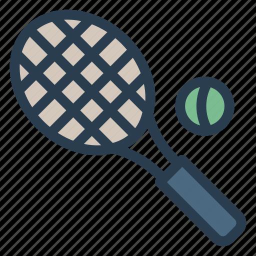 exercise, game, racket, shuttle, sports, tennis, tennisball icon