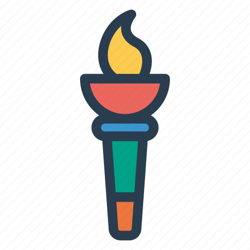 cup, equipment, flame, light, outdoors, sports, stadium icon