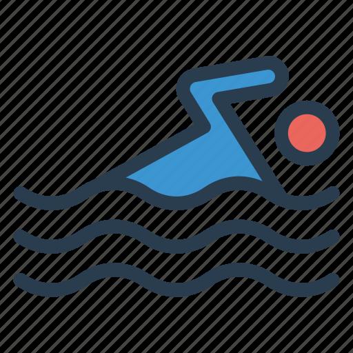 diving, game, pool, sea, sport, swim, water icon