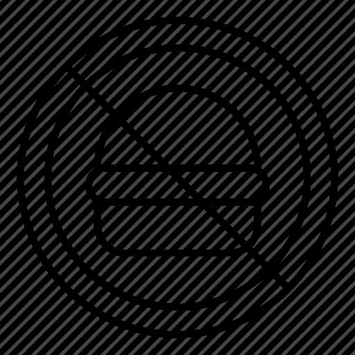 burger, cafe, eating, food, restaurant, sign, warning icon