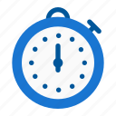 speed, sport, stopwatch, time, training, watch icon