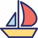 boat, gaff cutter, sailboat, sailing ship, yacht icon