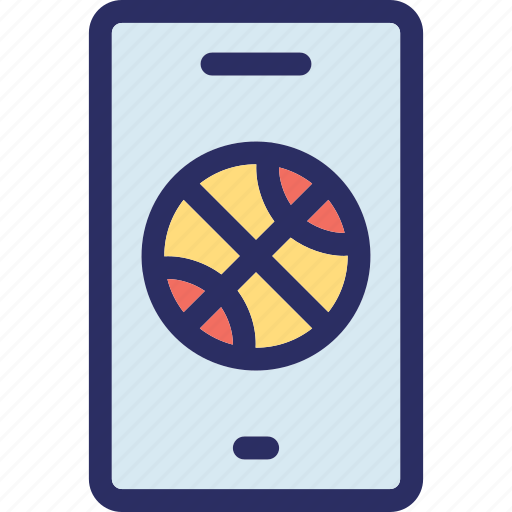 ball, football, mobile, online match, sports app icon