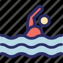swim, swimmer, swimming, swimming pool, water sports icon
