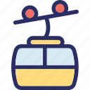 activity, chairlift, ropeway, transport icon
