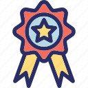 award badge, badge, ribbon badge, star badge, winner badge icon