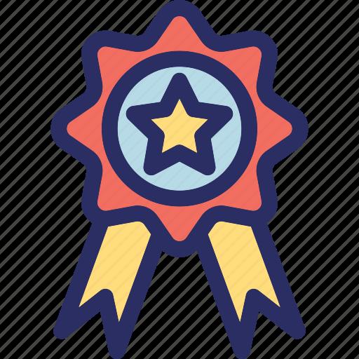 award badge, badge, ribbon badge, star badge, winner badge icon