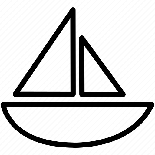 boat, ocean, river, sailing, sea, ship, water icon