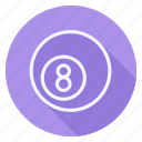 ball, eight ball, fitness, game, games, play, sport icon