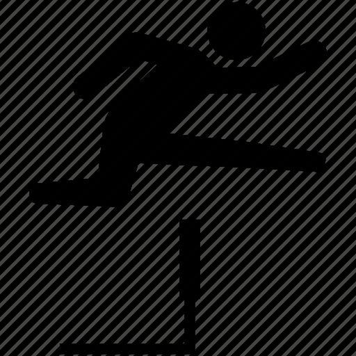 athletics, hurdle, hurdling, jumping, race, running icon