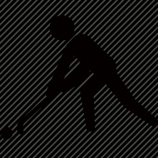 ball, grass, hockey, sport, stick icon