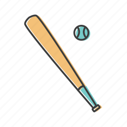 ball, baseball, bat, hardball, hurl, sport, willow icon
