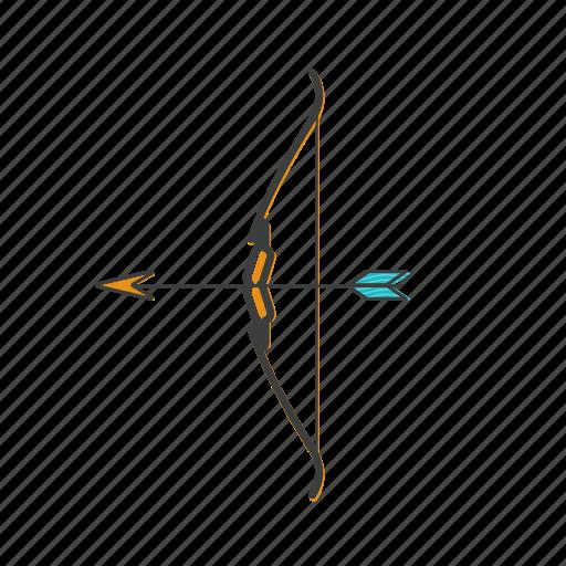 arrow, bow, hunt, shoot icon