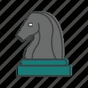 horse, horseman, chess, strategy icon
