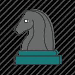 chess, horse, horseman, strategy icon