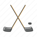 bandy, club, hockey, puck, sport, stick icon