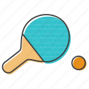 bat, ping, pong, racket, racquet, tennis icon