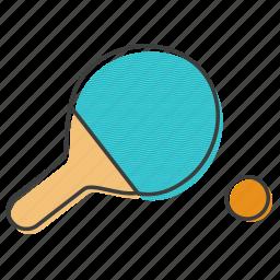 bat, ping, pong, racket, racquet, tennis icon