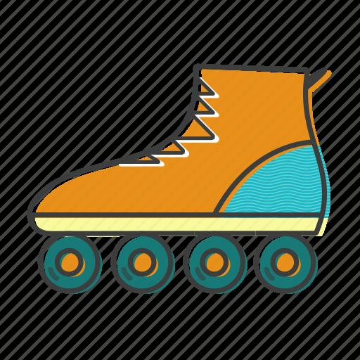 inline, roller, skates, skating, sport icon