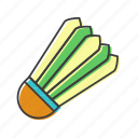 badminton, shuttlecock, sport, volant icon