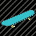 skate, sport, skateboard, board icon