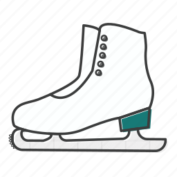figure, ice, olympic, skate, skates, skating, winter icon