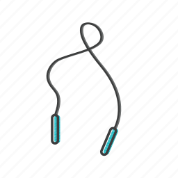bound, jump, rope, skip, skipping, sport, spring icon