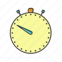 seconds, measure, watch, second, time, stopwatch, sport icon