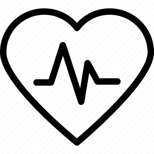 heart, heartbeat, medical, pulsation, pulse icon icon