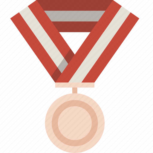 bronze, medal, prize, winner icon