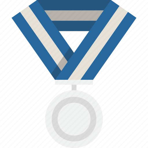 medal, prize, silver, winner icon