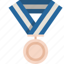 bronze, medal, prize, winner icon