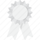 award, place, ribbon, third, third place, white icon
