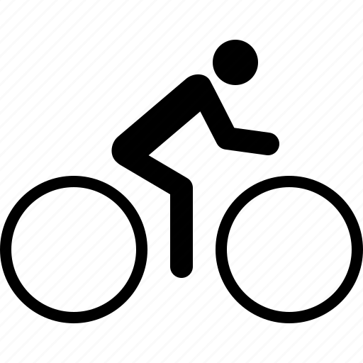 bicycle, bike, biking, cycling, cyclist, exercise, fitness icon