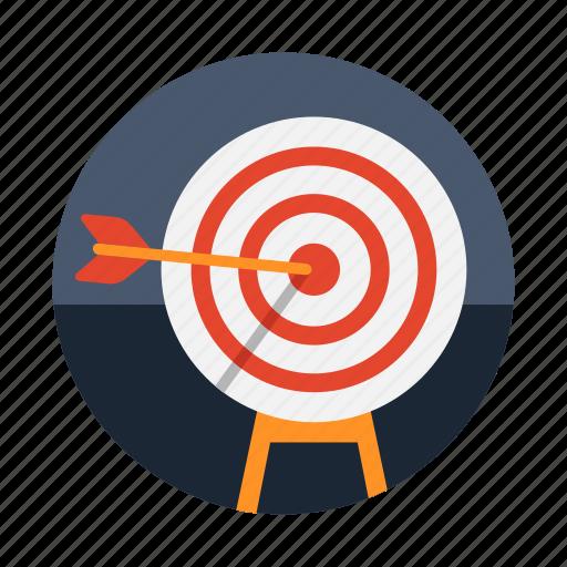 archery, arrow, bullseye, dart, target icon