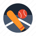 baseball, baseball bat, softball, sport gear, team sports icon