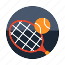 equipment, racket, sport and competition, tennis, tennis ball icon