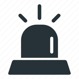 alarm, alert, light, police icon