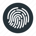 finger, fingerprint, open, passcode, password, touch id icon