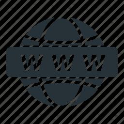 globe, internet, site, website, www icon