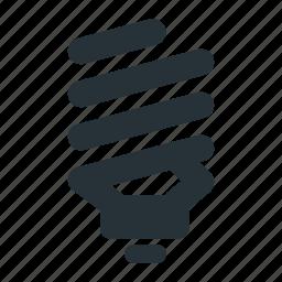 bulb, eco, lamp, light, spiral icon