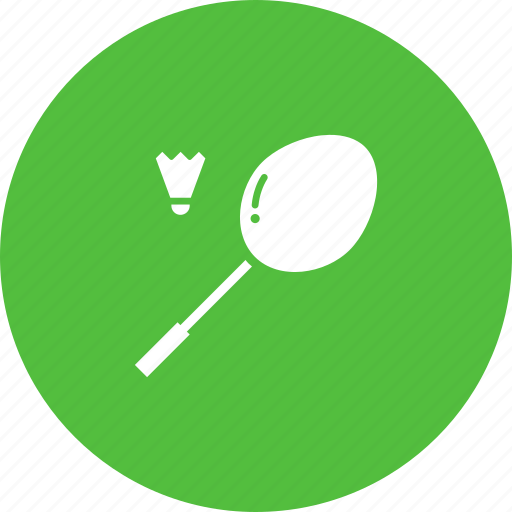 badminton, cock, racket, racquet, shuttle, sports icon
