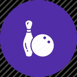 ball, bowling, game, pin, tenpin icon