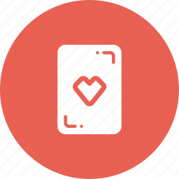 card, casino, gamble, heart, luck, playing icon