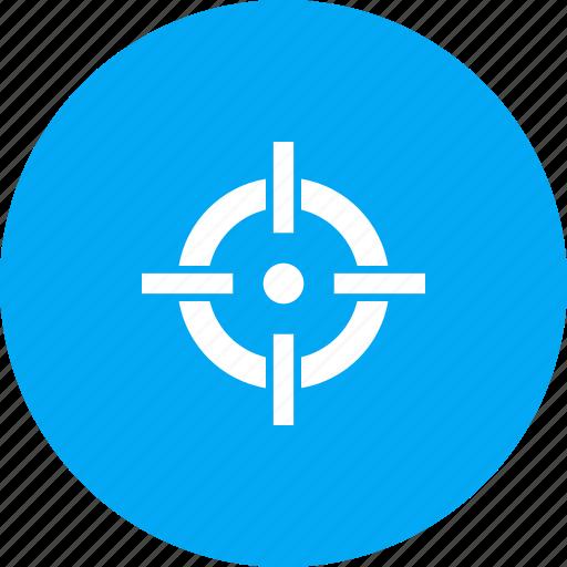 aim, crosshair, goal, hit, shoot, target icon