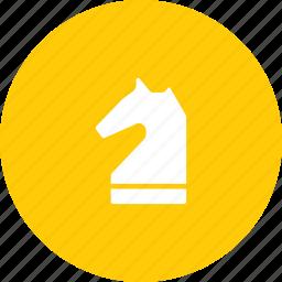 chess, knight, piece icon