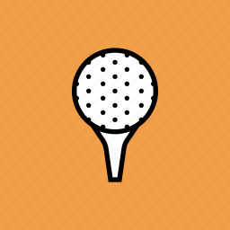 ball, game, golf, pin, tee icon