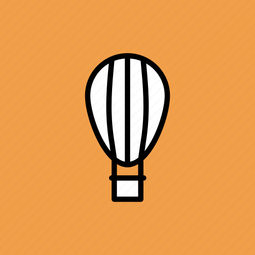 air, balloon, fly, fun, parachute, travel, vacation icon