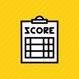 clipboard, coach, pad, paper, score, scorecard, umpire icon