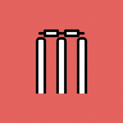 bails, cricket, game, out, sports, stumps, wicket icon